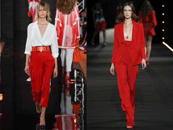 mulheres vermelho elegante