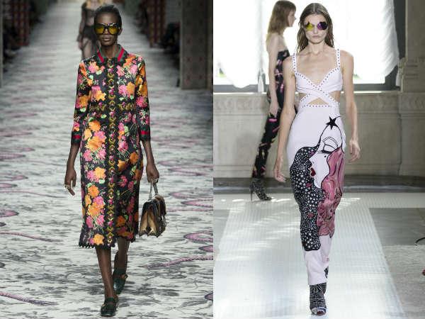 Primavera-verão 2016 vestidos: estampas da moda
