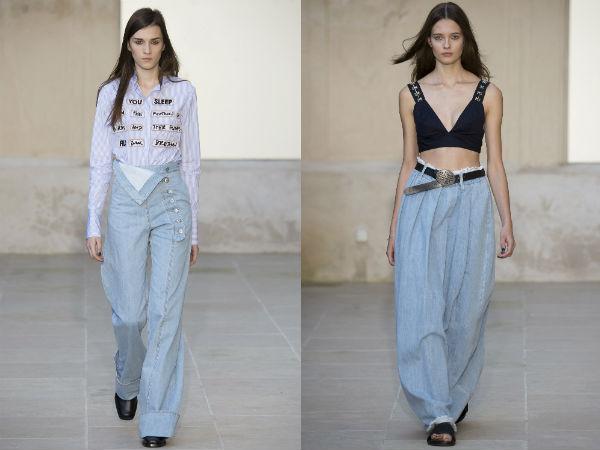 calça jeans flare de cintura alta
