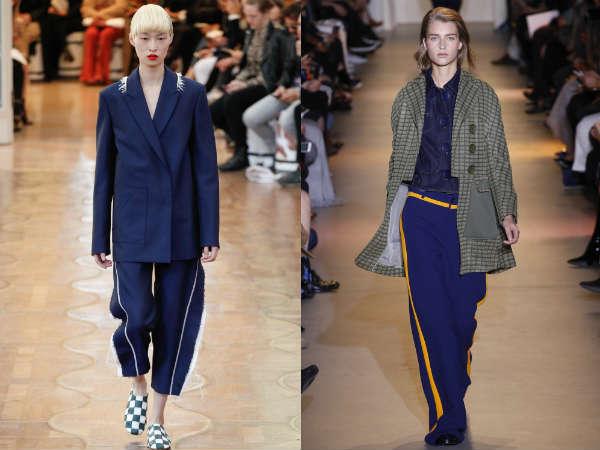 Primavera-verão 2016 calças com listras