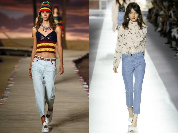 Jeans 2016 moda calças capri Primavera-Verão 2016