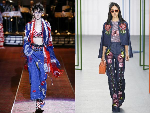 Jeans mulher Primavera-Verão 2016: elementos de decoração