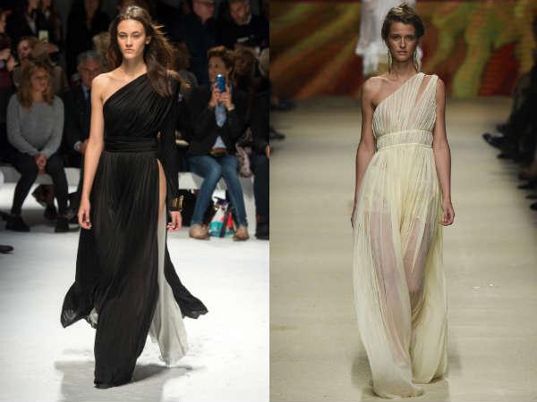 Vestidos Primavera-Verão 2016: Assimetria