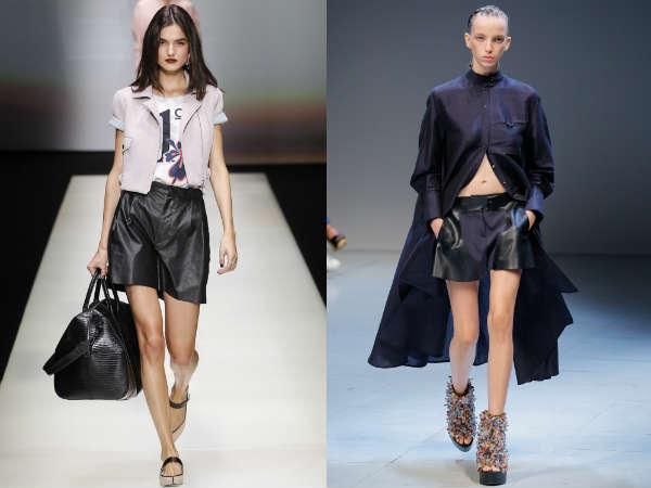 Qué estilos de pantalón corto negro están de moda en Primavera 2016