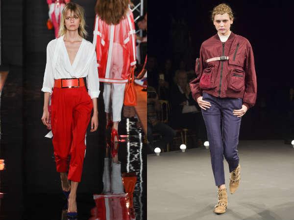 Pantalones capri conicos de moda