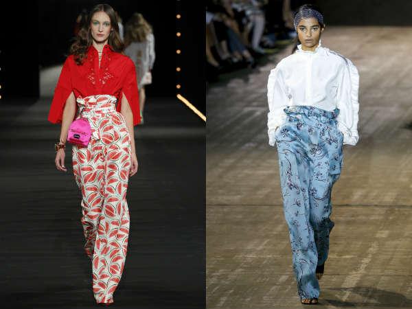 Calças elegantes de cintura alta