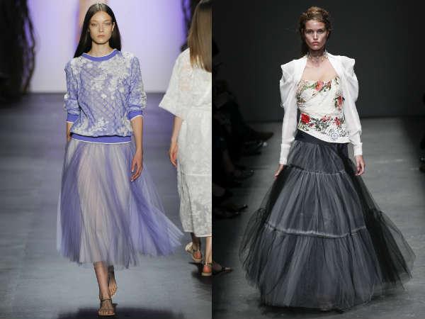 Saias midi da moda para a temporada Primavera-Verão 2016