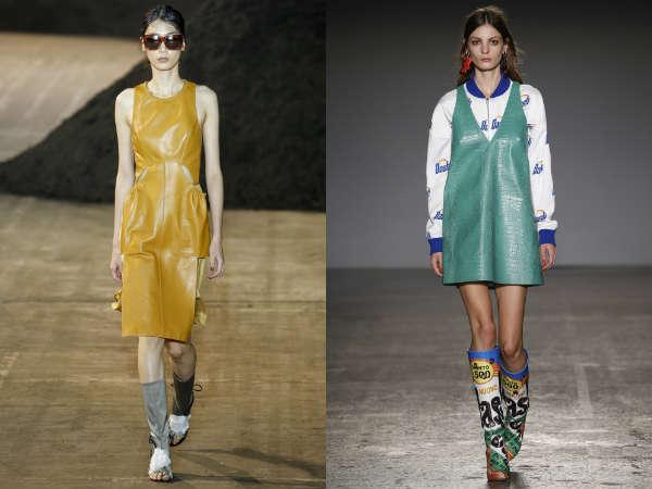 Primavera-verão 2016 vestidos: couro