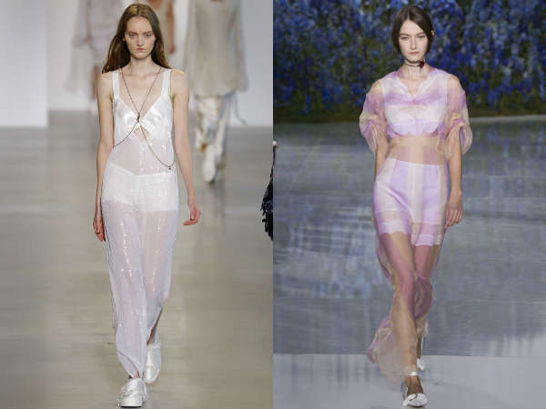 Vestiti in tessuti transparenti