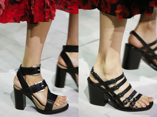 Sandalias con correas de moda 2016 primavera verano