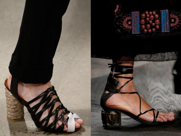Sandalias de mujer de tacón 2016