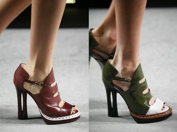zapatos de tacón alto de cuero de la primavera de 2016