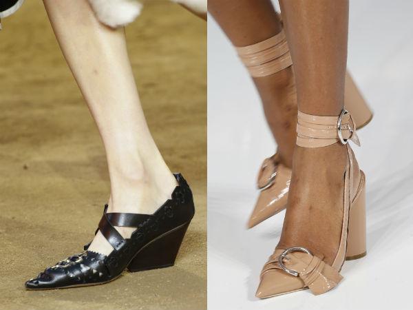 Zapatos de las mujeres con punta estrecha Primavera Verano 2016