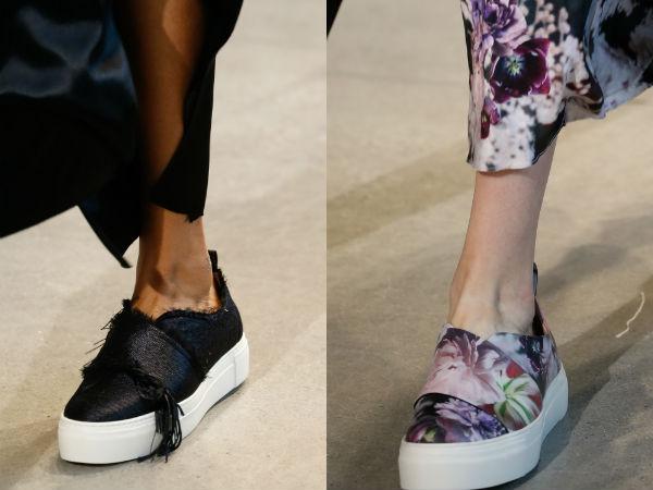 Los zapatos de plataforma de 2016