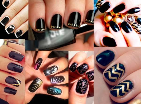 Desenhos manicure em cores brilhantes
