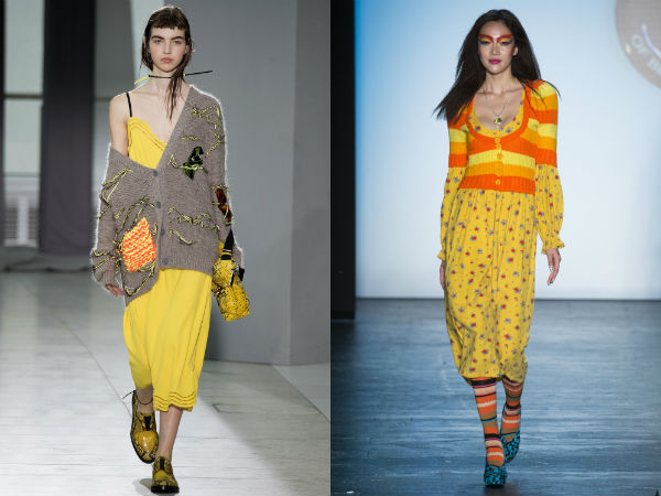 color amarillo de moda primavera verano 2016