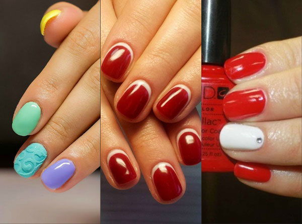 unghie di moda brevi