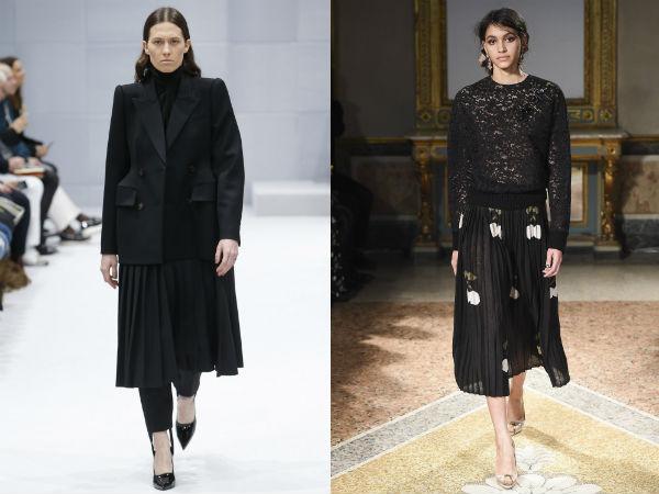 moda saias plissadas Outono Inverno 2016 2017