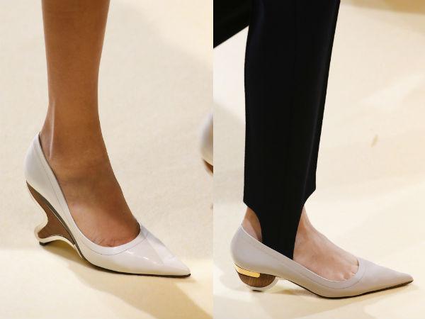 donne eleganti con tacco basso