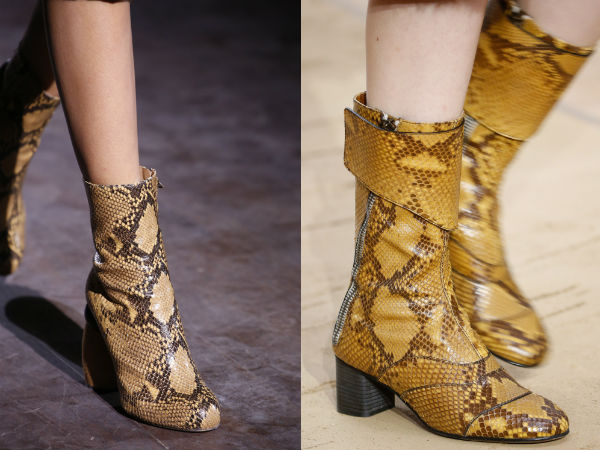 calzature pelle di rettile