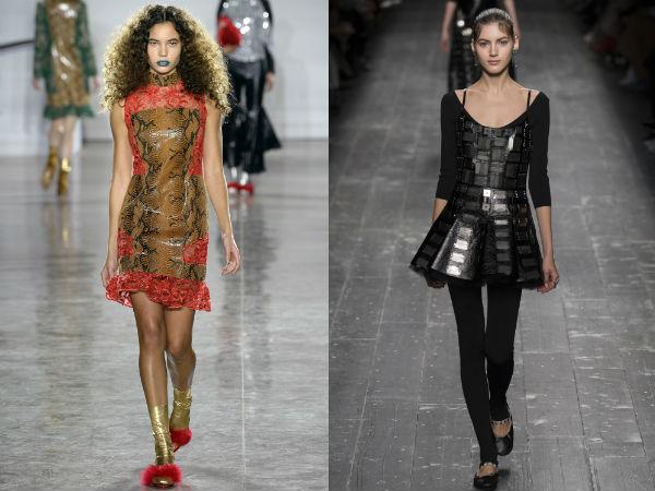 Vestidos de Otoño-Invierno 2016 2017: Telas