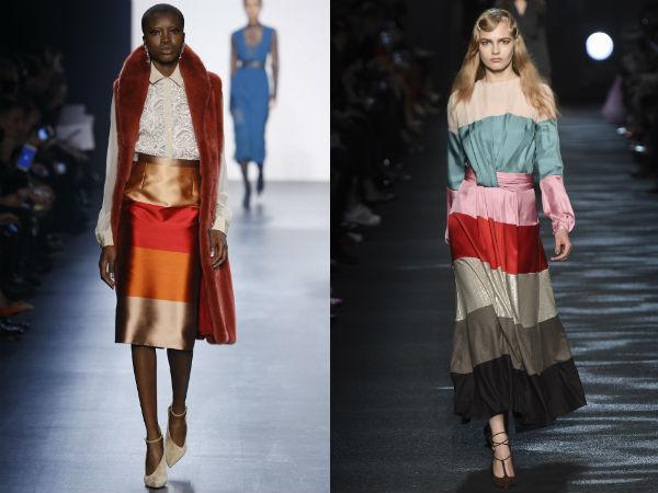faldas elegantes con rayas anchas