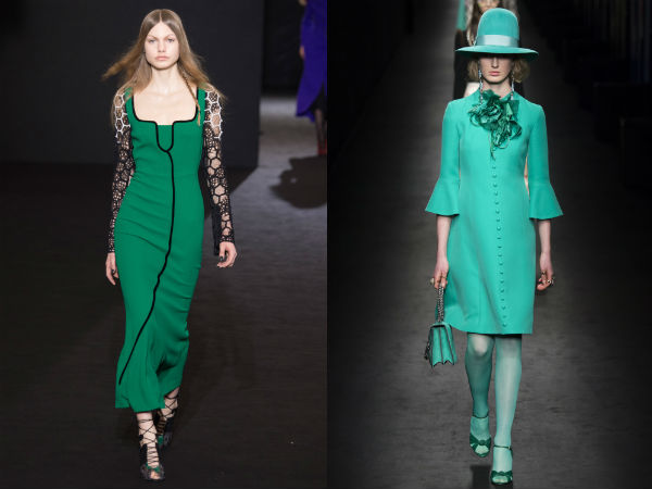 vestido de color turquesa