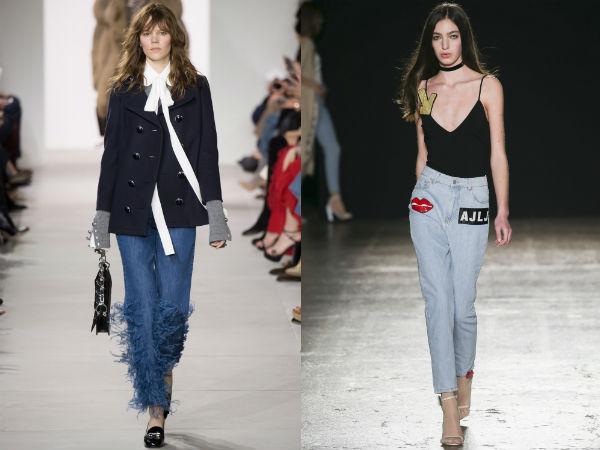 Moda jeans com bordado