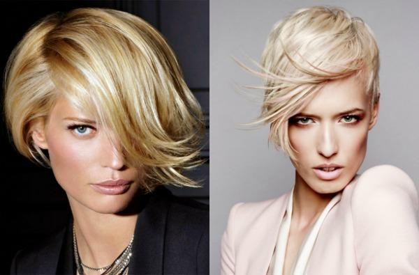 taglio di capelli asimmetrico per i capelli corti