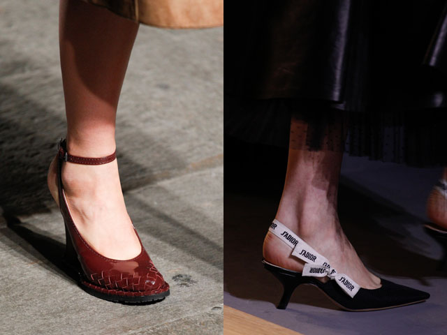 Mujer zapatos sin espalda 2017