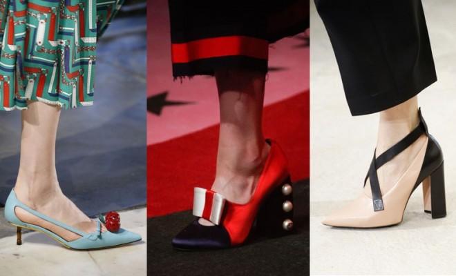 Sapatos da moda primavera-verão 2017