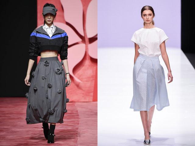 Midi saias moda 2017
