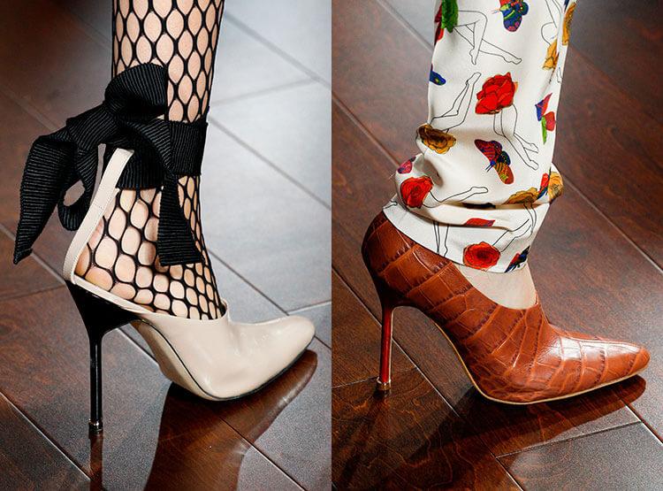 tacco sottile alla moda
