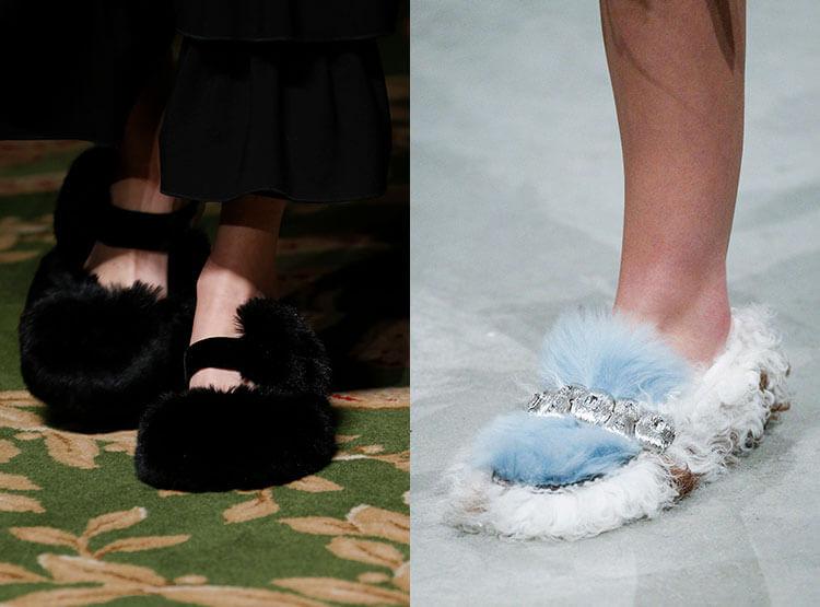Sapatos femininos outono 2017 inverno 2018: peles