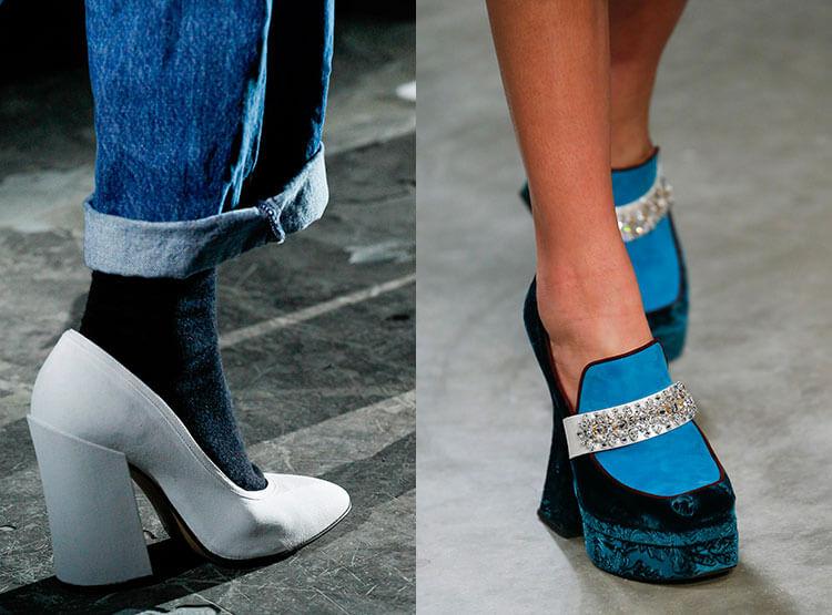 Scarpe con piattaforme e tallone
