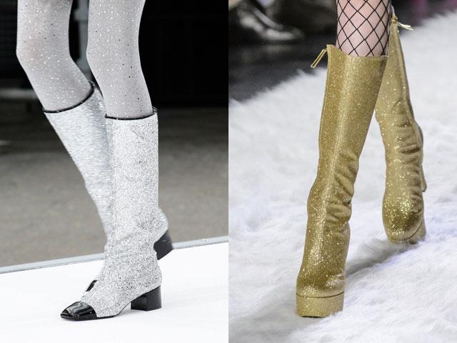 Mulheres calçado outono inverno 2017 2108: brilho