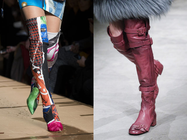 sopra i disegni degli stivali delle ginocchia