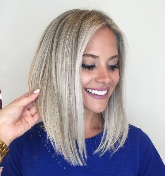 Meio bob cortes de cabelo desenhos 2018