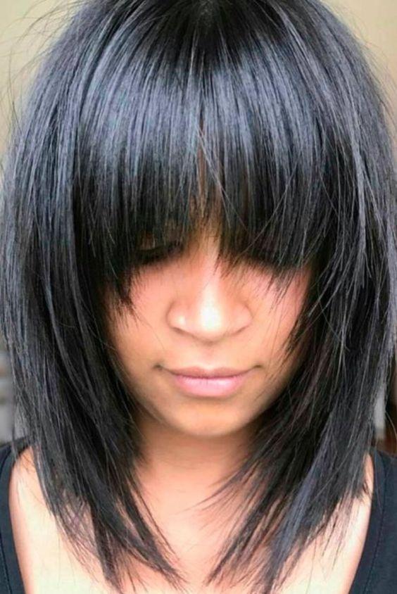Corte de cabelo diluído em camadas