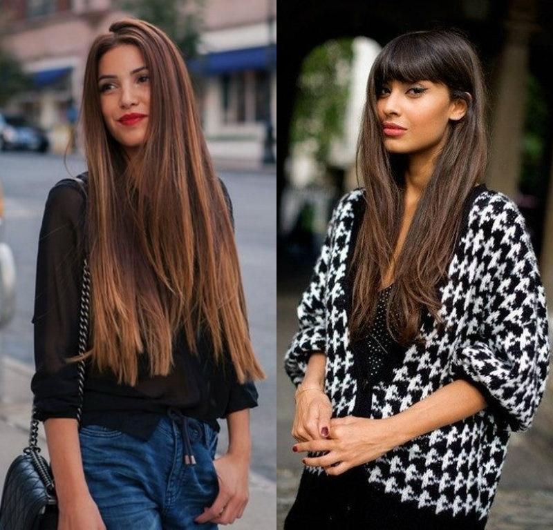 Tendências de cabelo longo 2018